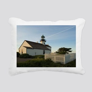 point loma lighthouse Rectangular Canvas Pillow