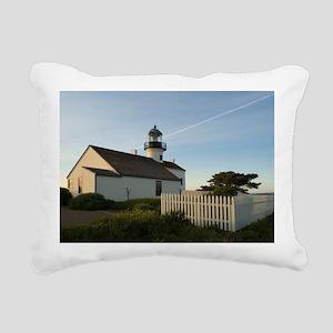 point loma lighthouse Rectangular Canvas Pillow