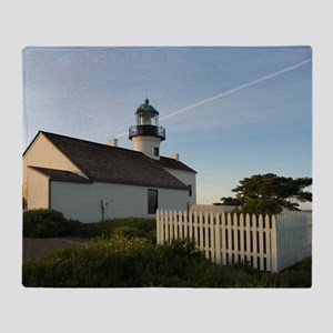 point loma lighthouse Throw Blanket