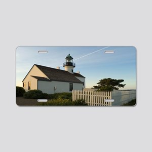 point loma lighthouse Aluminum License Plate