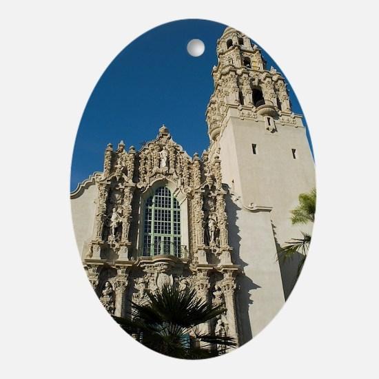 California Tower Ornamentation Oval Ornament