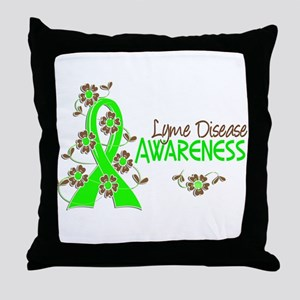 Lyme Disease Awareness 6 Throw Pillow