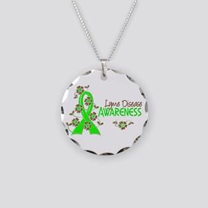 Lyme Disease Awareness 6 Necklace Circle Charm