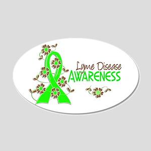 Lyme Disease Awareness 6 20x12 Oval Wall Decal