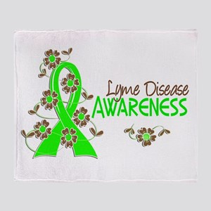Lyme Disease Awareness 6 Throw Blanket