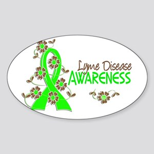 Lyme Disease Awareness 6 Sticker (Oval 10 pk)