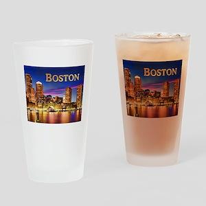 Boston Harbor at Night text BOSTON copy Drinking G