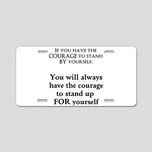 Stand Up Aluminum License Plate