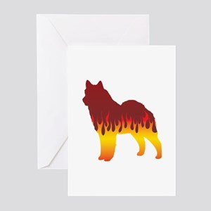 Lapphund Flames Greeting Cards (Pk of 10)