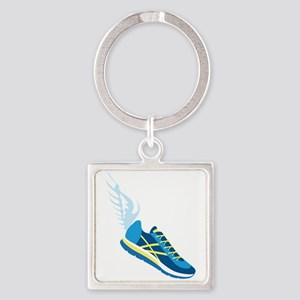 Running Shoe Wing Keychains
