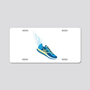Running Shoe Wing Aluminum License Plate