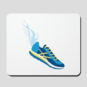 Running Shoe Wing Mousepad