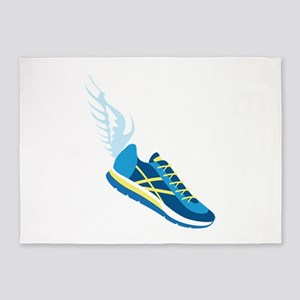 Running Shoe Wing 5'x7'Area Rug