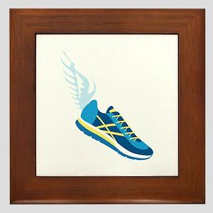 Running Shoe Wing Framed Tile
