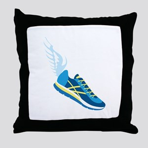 Running Shoe Wing Throw Pillow