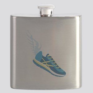 Running Shoe Wing Flask
