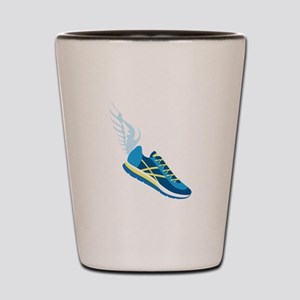Running Shoe Wing Shot Glass