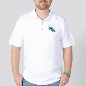 Running Shoe Wing Golf Shirt