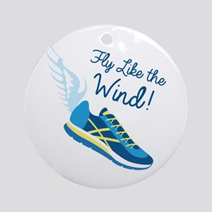 Fly Like the Wind Ornament (Round)