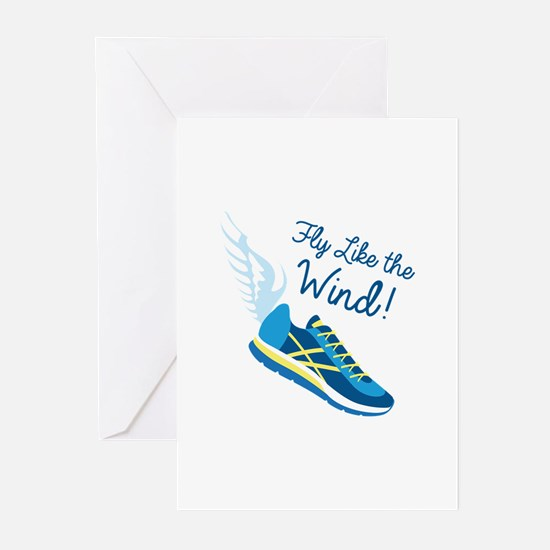 Fly Like the Wind Greeting Cards