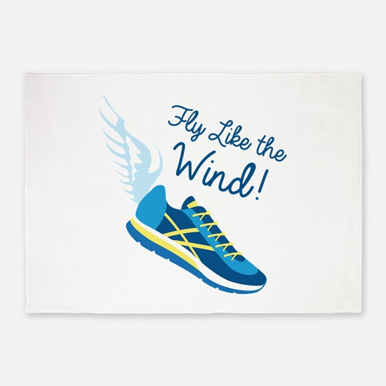 Fly Like the Wind 5'x7'Area Rug