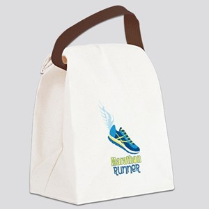 Marathon Runner Canvas Lunch Bag