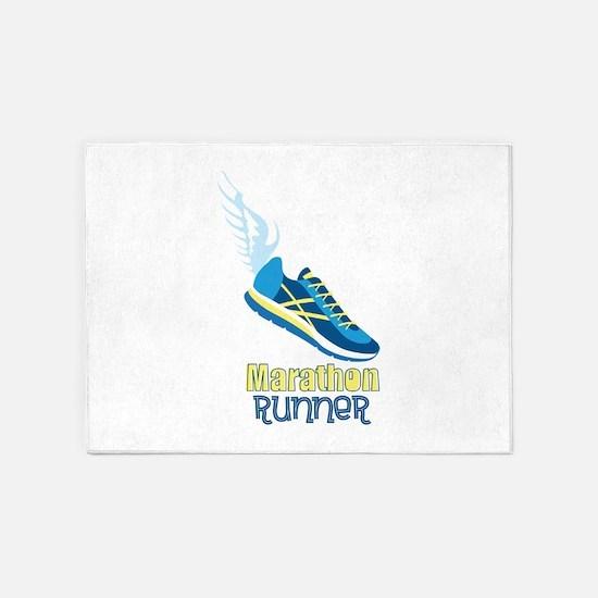 Marathon Runner 5'x7'Area Rug