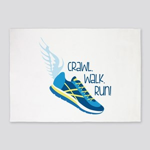Crawl. Walk. Run! 5'x7'Area Rug