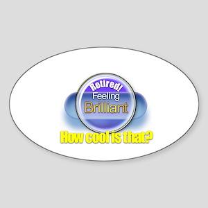 That Brilliant Feeling 1-2.:-) Oval Sticker