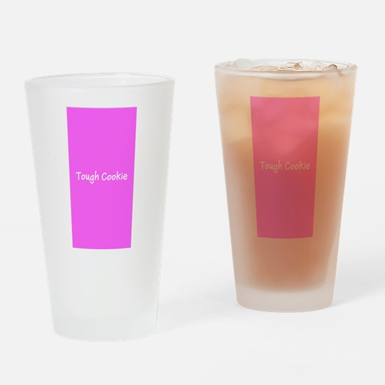 Tough Cookie Pink Breast Cancer 4Mi Drinking Glass