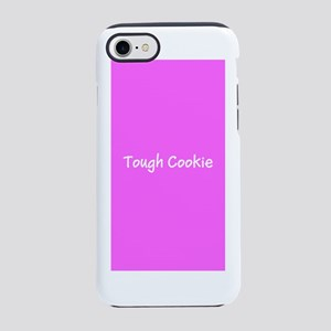 Tough Cookie Pink Breast Cance iPhone 7 Tough Case