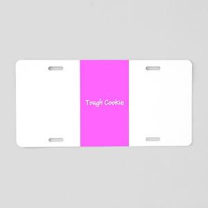 Tough Cookie Pink Breast Ca Aluminum License Plate