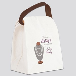 Pearls are always appropriate Canvas Lunch Bag