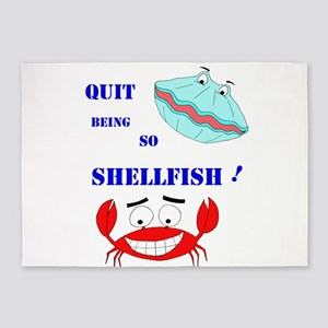 Quit being so shellfish! 5'x7'Area Rug