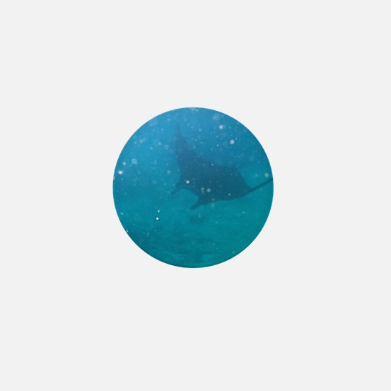 Manta ray filter feeding Mini Button
