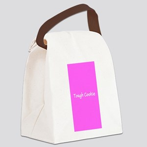 Tough Cookie Pink Breast Cancer 4 Canvas Lunch Bag