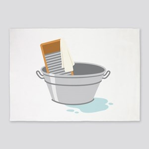 Laundry Tub Washboard 5'x7'Area Rug