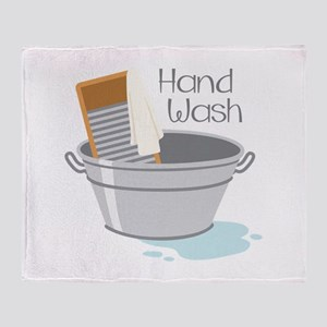 Hand Wash Throw Blanket