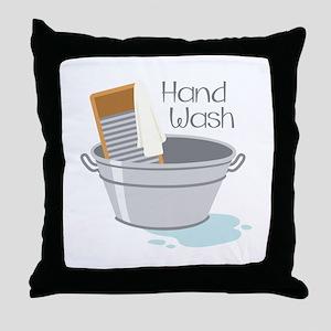 Hand Wash Throw Pillow