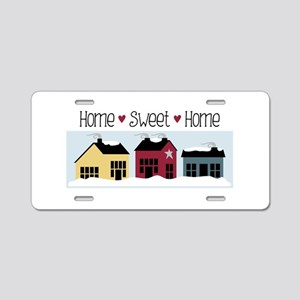Home + Sweet + Home Aluminum License Plate