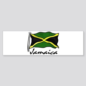Jamaican Flag Bumper Sticker