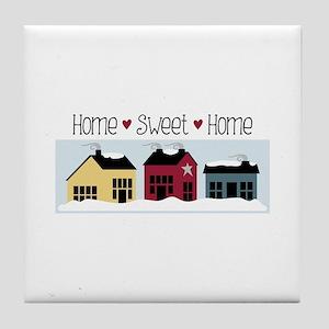 Home + Sweet + Home Tile Coaster