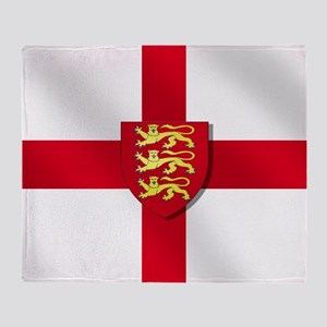 England Three Lions Flag Throw Blanket