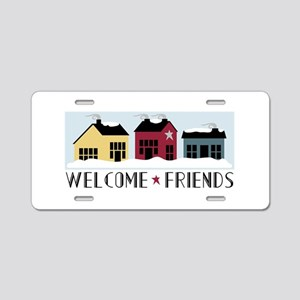 WELCOME * FRIENDS Aluminum License Plate