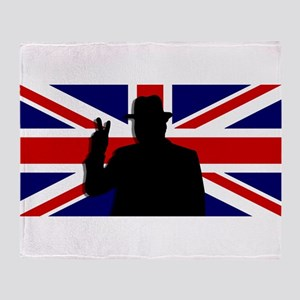 Winston Churchill Victory Throw Blanket