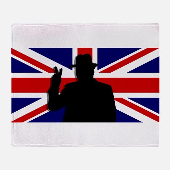 Winston Churchill Victory Throw Blanket