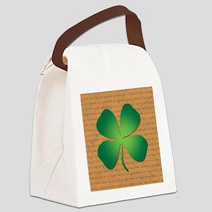 DUBLINER FOUR LEAF CLOVER Canvas Lunch Bag