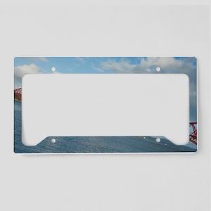 angled forth bridge License Plate Holder