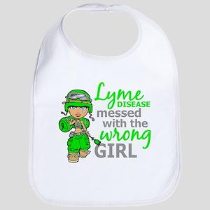 Lyme Disease Combat Girl Bib