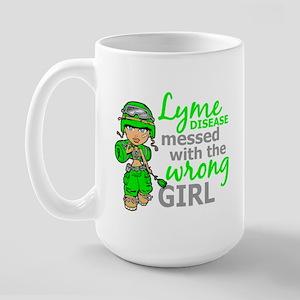 Lyme Disease Combat Girl Large Mug